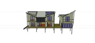 The design in Sketchup