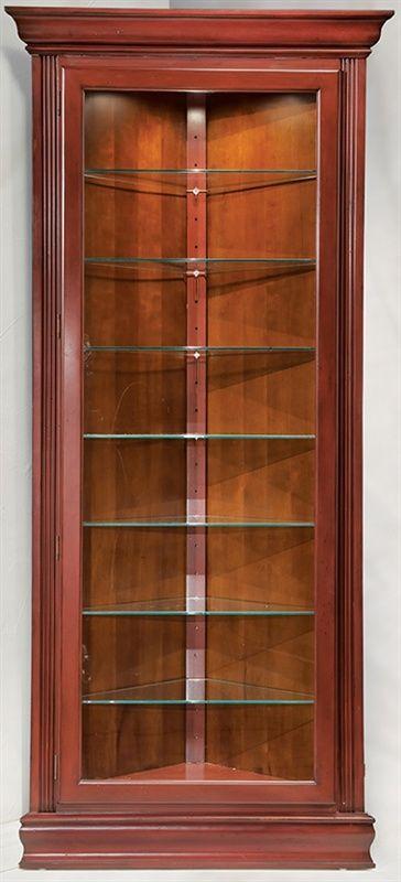 corner cabnet display | ... Prism - Contemporary Corner Curio Display Cabinet w Reversible Back
