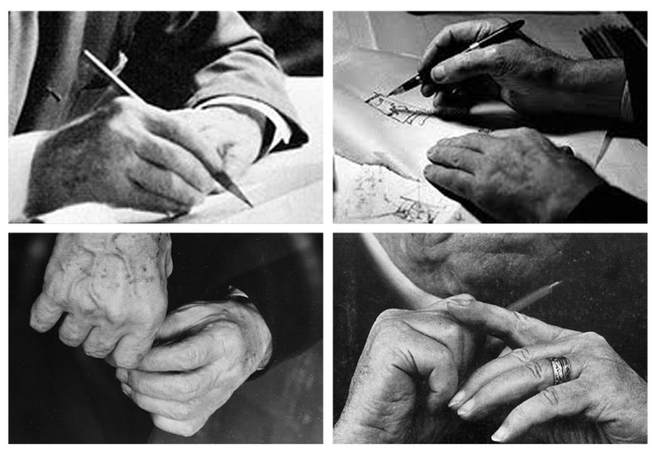 Hands of Frank Lloyd Wright, Le Corbusier, Mies Van Der Rohe, Alvar AaltoSmall Gesture, Vans Of, Der Rohe, Alvar Aalto, Frank Lloyd Wright, Mano Hands, Mies Vans, Spaces Design, Art Experiments