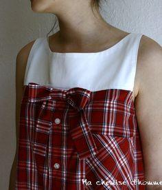 Son blog est génial. Créer des vêtements pour femmes à base de chemises d'homme. Une tonne d'idées ;)