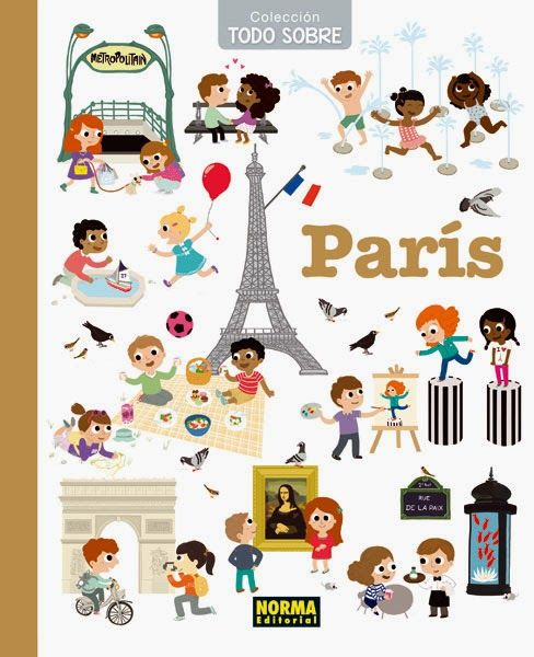 """Colección """"Todo sobre París"""" guía ilustrada - viaje a París con niños consejos y recomendaciones"""