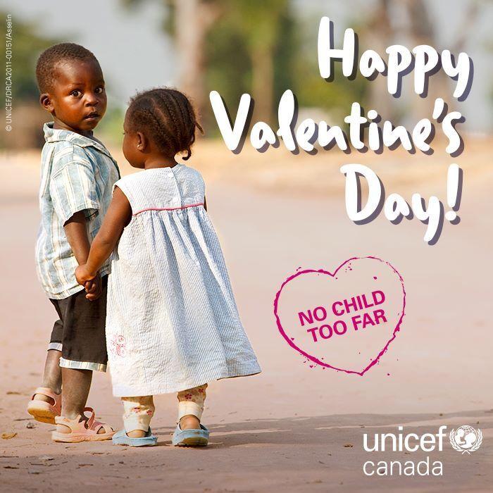Happy Valentine's Day! Thanks for showering children around the world with love!