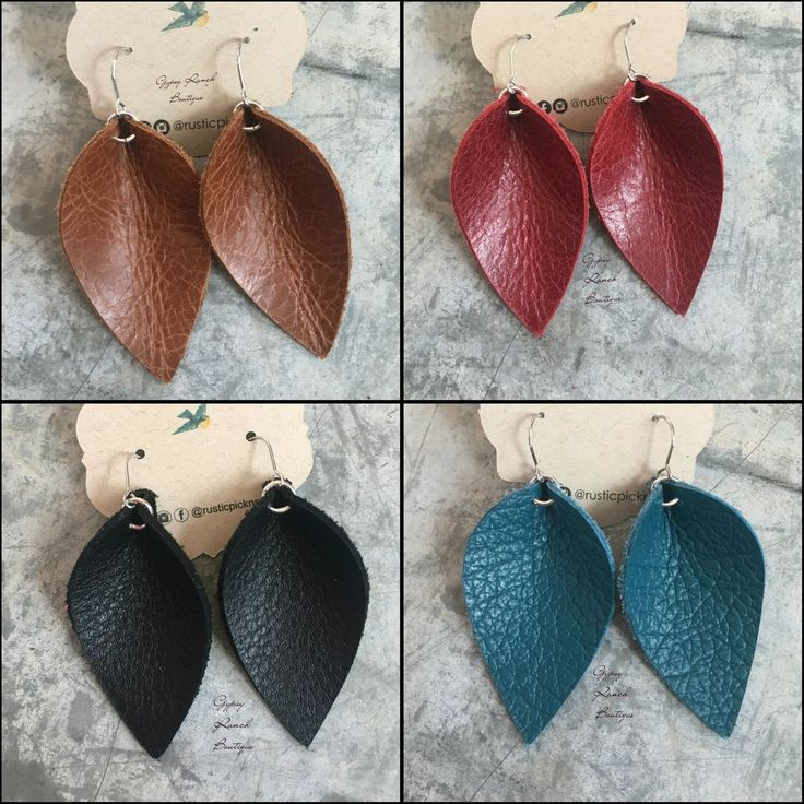 super cute leather earrings same style as johanna Gaines wore on her hit show on HGTV lightweight and darling