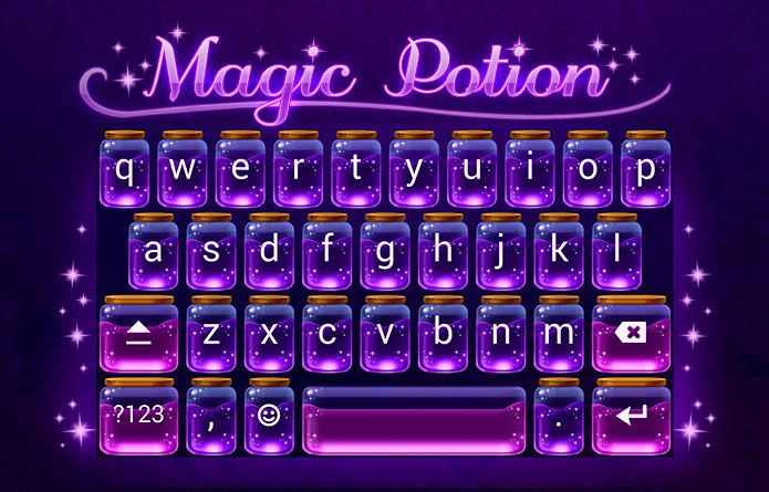 Magic Potion Theme: A magic potion theme that will make your Android keyboard look magical. Slick and dandy, perfect for any android keyboard that needs some pimpin'. #android #theme #design #wallpaper #keyboard #technology #gadgets #design #redrawkeyboard #magic #purple