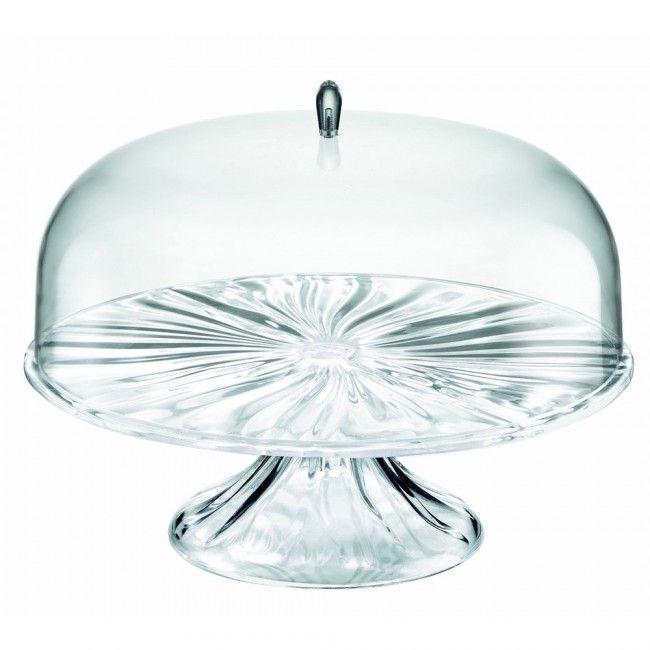 Изящное дополнение для праздничного стола. Волнистые изгибы напоминают поверхность воды. Форма привлекает внимание окружающих, а прозрачная крышка раскрывает всё содержимое, пробуждая аппетит. <br /> Подходит для хранения и сервировки сладостей, выпечки, тортов и закусок. <br /> <br /> Можно мыть в посудомоечной машине.