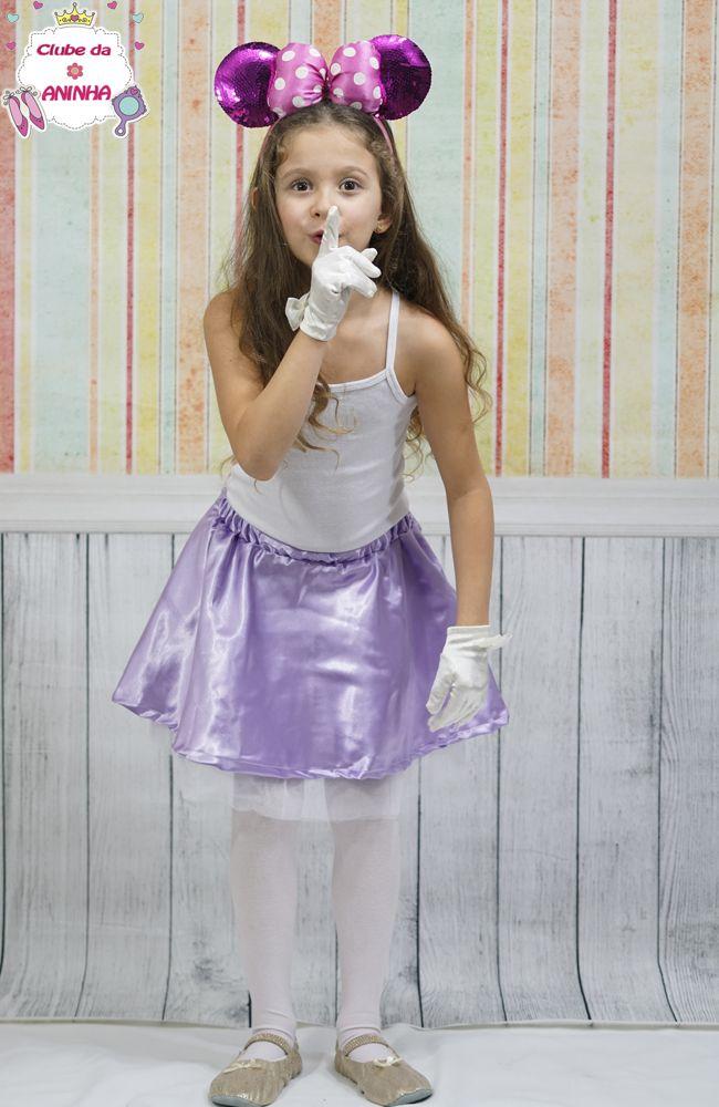 Fantasia Minnie Cor de Rosa. Fantasia para crianças.Fantasia de carnaval para crianças.
