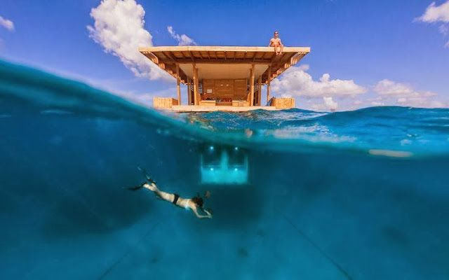 Underwater Room - Manta Resort, Tanzania #travel #travelideaz #traveltips #beautifulplacesintheworld  http://travelideaz.com/
