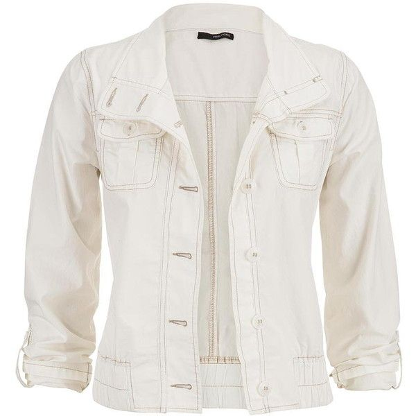 maurices Crop Jacket With Pockets In Cream ($35) ❤ liked on Polyvore featuring outerwear, jackets, white, cream, white cotton jacket, cropped jacket, cotton jacket, cream jacket and cropped cotton jacket