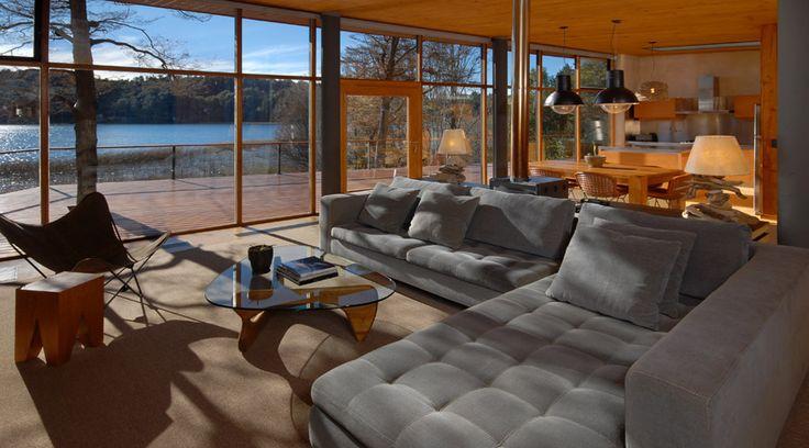 Amazing modern house rental over the lake in Bariloche www.LatinRetreats.com
