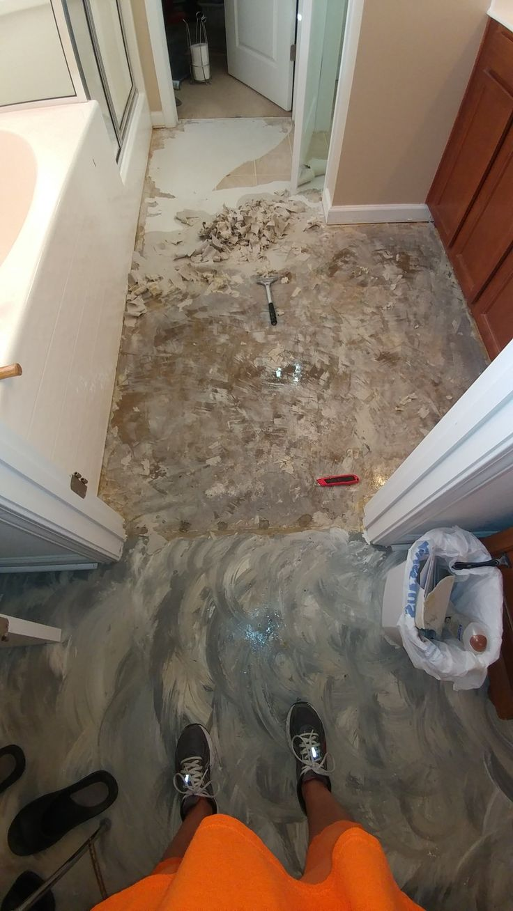 Best 25 removing vinyl flooring ideas on pinterest vinyl floor concrete floor after removing vinyl dailygadgetfo Gallery