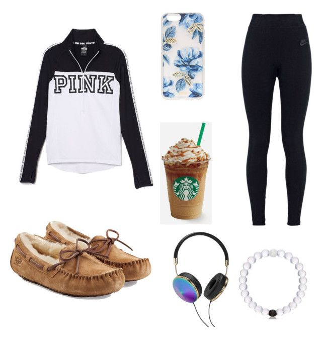 by mira-81k ❤ liked on Polyvore featuring NIKE, UGG Australia,