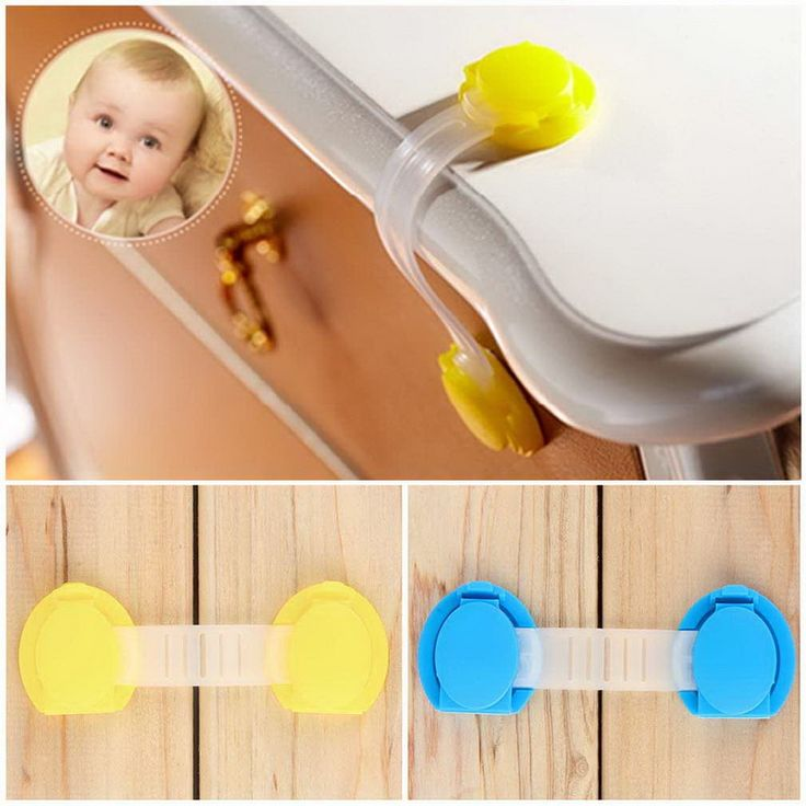 2Pcs Toddler Baby Safety Lock Kids Drawer Cupboard Fridge Cabinet Door Lock Plastic Cabinet Locks Baby Security Lock