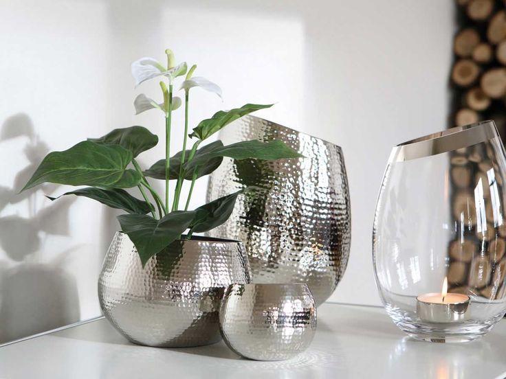 117 besten Silber Highlights Bilder auf Pinterest Kerzenhalter - pflanzen deko wohnzimmer