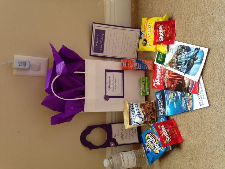Wedding Welcome Bag Goodies#Purple&White