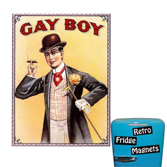 Funny Gay Boy Cigaret Advertisement by RetroFridgeMagnets on Etsy, $2.00