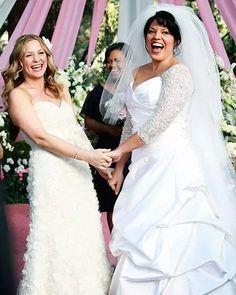 Vestidos de noiva da Arizona e Callie Torres em Grey's Anatomy.