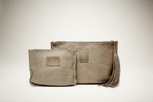 B | Y Leather BO [small&big] 100% genuine leather clutch