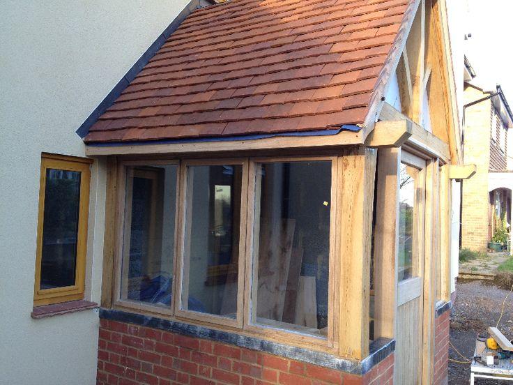 Oak framed porches google search oak porches for Front porch extension