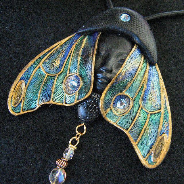 TABOUQ Art Nouveau Butterfly Pendant Necklace