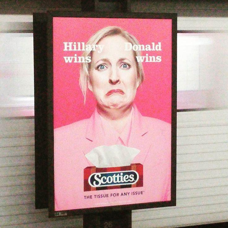 Smart #advertisement for #tissues. #Trump #hillaryclinton
