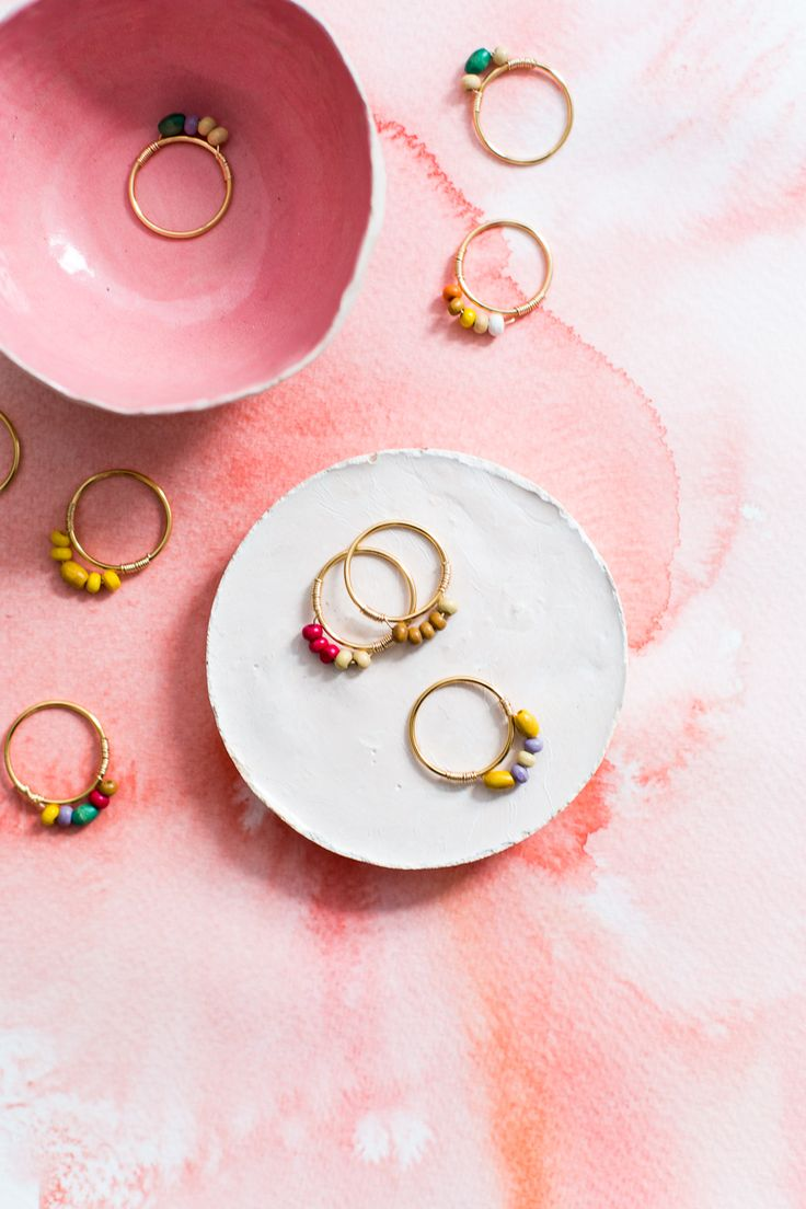 Make these easy and quick mini beaded DIY rings for you and as a gift for all your friends! Personalise the colour combinations for your favourite look.