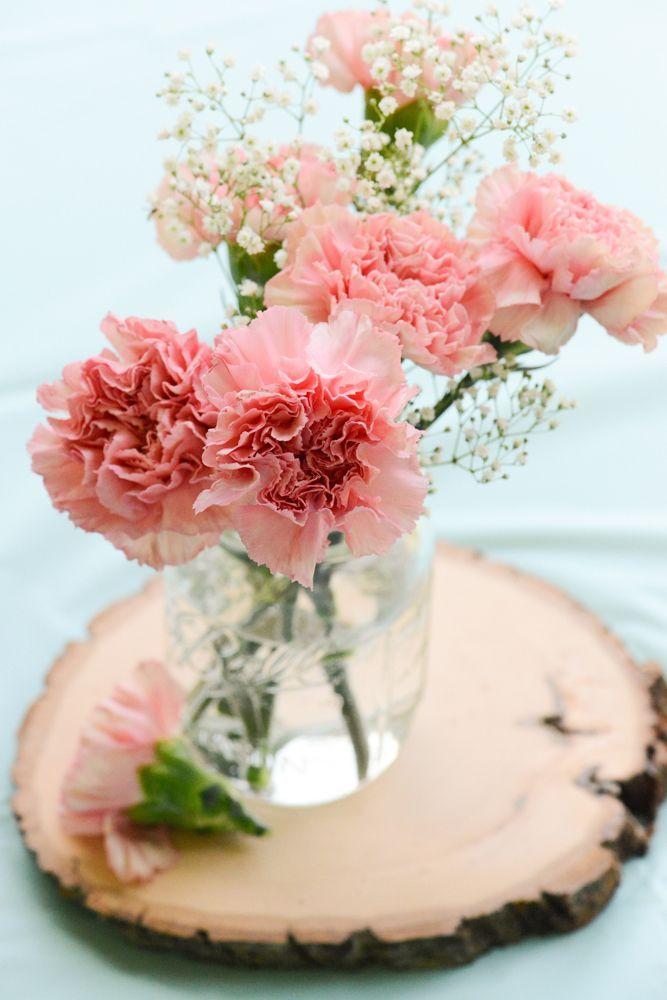 rustic | bridal shower | centerpiece decorations | mason jar centerpiece
