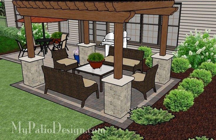 pergola ideas for patio 22 awesome pergola patio ideas simple brick patio with pergola patio designs - Patio Pergola Ideas