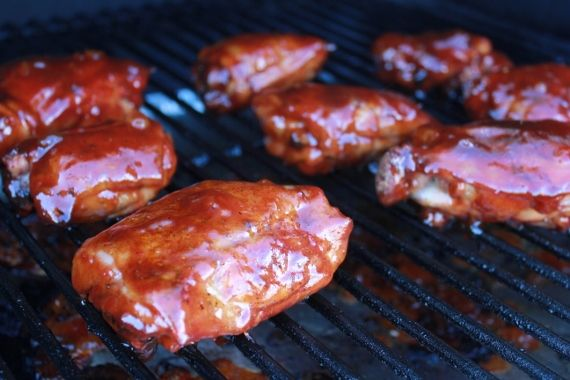 """Team Traeger   """"Competition Style"""" BBQ Chicken Thighs~using my BBQ sauce~"""