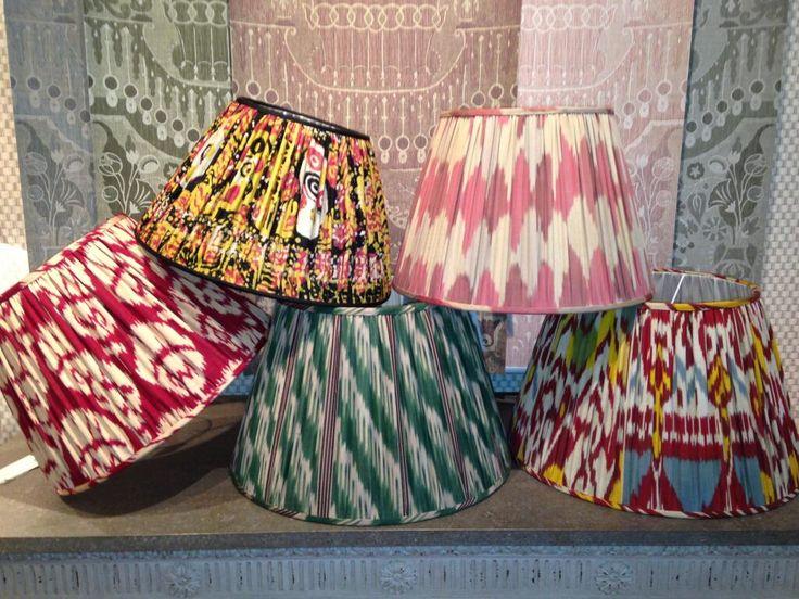 Custom Ikat Lampshades by Robert Kime UK