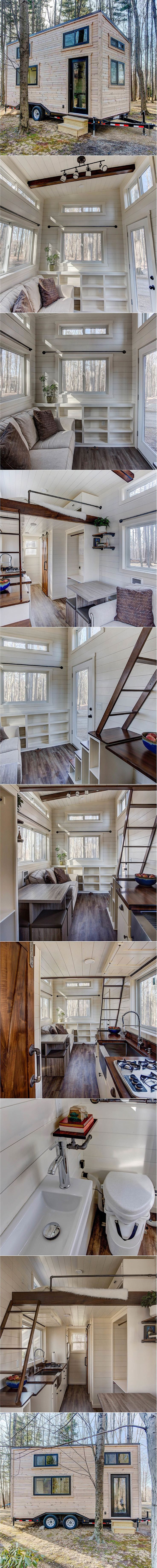 """The Mohican  @moderntinyliving ✨ """"We built the Mohican as one of our show units. This 20′ Tiny Home on Wheels has been named one of the Top 25 Tiny Homes in the United States by VacationIdea.com, and was featured on HGTV's """"Journey to the Tiny House Jamboree"""". The Mohican is a true testament to […]"""