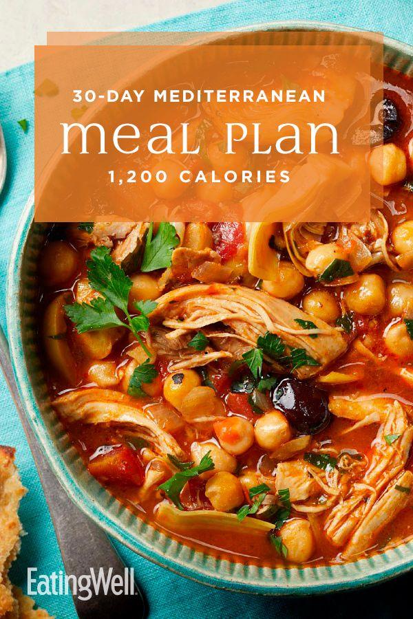 30 Day Mediterranean Diet Meal Plan 1 200 Calories Mediterranean Diet Meal Plan Mediterranean Diet Recipes Easy Mediterranean Diet Recipes
