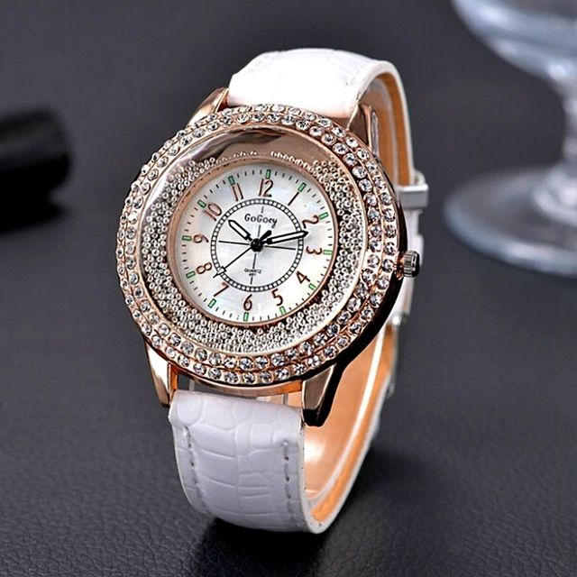 Luxury Leather Crystal Stone Watches US $1.94 - 2.38
