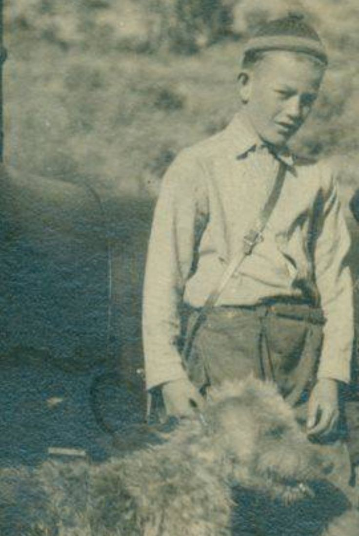 John Wayne and his childhood dog Duke
