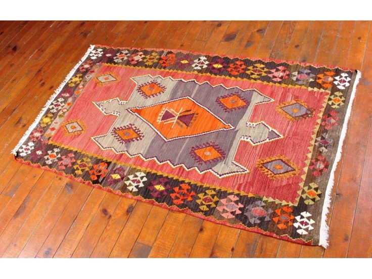 Colorful Kilim Rug | Kilim Rug, Tribal Turkish Carpet, Colorful Ethnic Bohemian Home decor ...