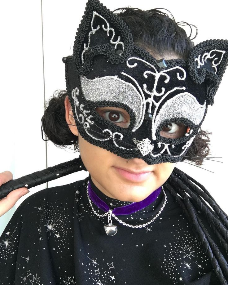 Hey everyone  its me! Is this a new birthday tradition? Because I dont look or feel 23 at all  the cat onine tails came from the same place the mask did: masksfromvenice on Etsy and the bell came from @twirlytrinkets  Id love to try making a glam Catwoman outfit (modelled on the wardrobe from Queen circa 1973??) and get it purr-fect in time for Halloween  #cat #mask #masquerade #Catwoman #birthdayselfie