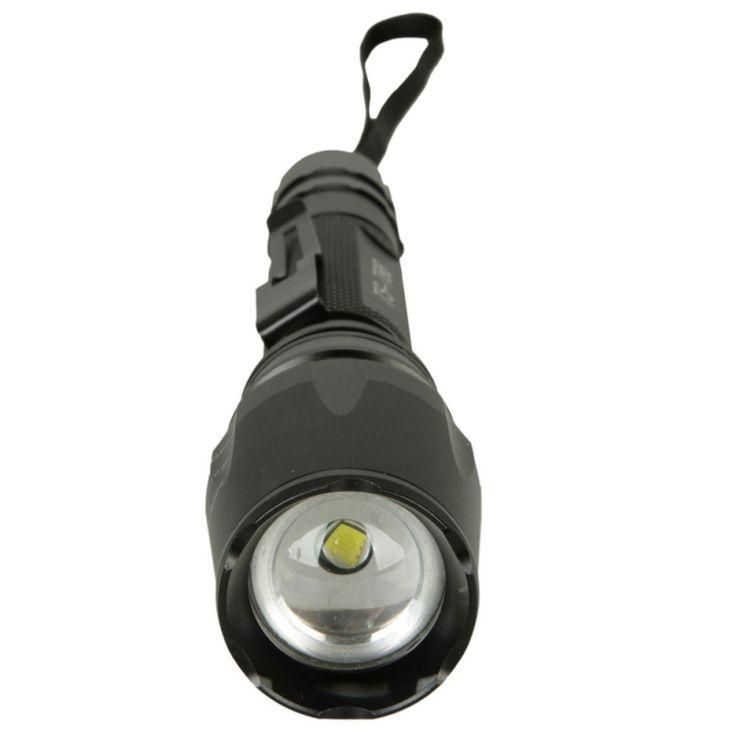 T6 800LM 5 Mode Focusing LED Flashlight Torch Black