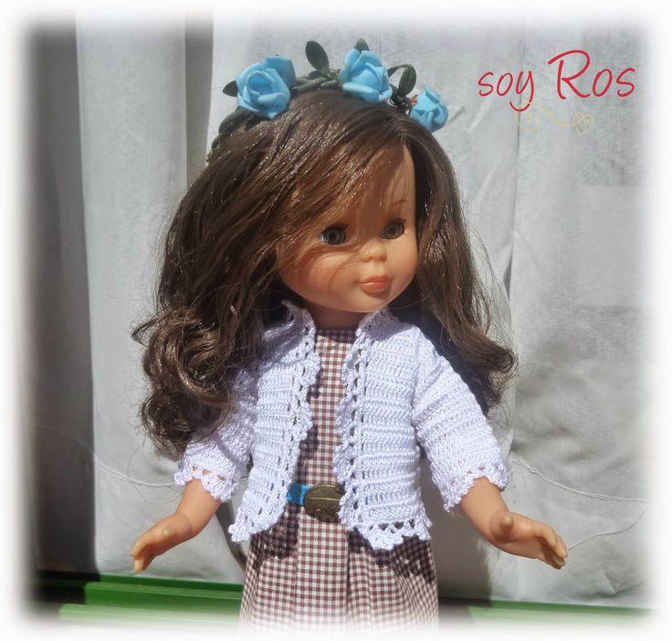 soy Ros: chaqueta de crochet. Para muñeca Nancy