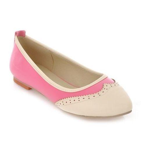 Womens Ladies Multicolour Pointed Toe Ballerinas Ballet Flat Shoes Plus Size C62 | eBay
