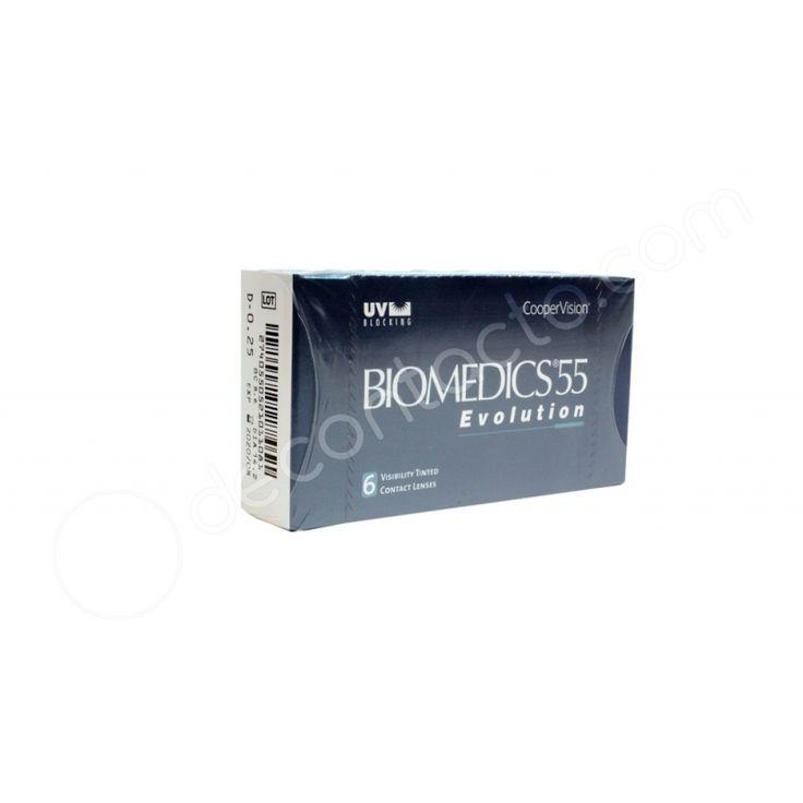 BIOMEDICS®55 Económicos e ideales para principiantes en el uso lentes de contacto. Son cómodos y de fácil manejo, gracias a su textura y tonalidad. Lentes de contacto blandos, de uso diario. Corrigen miopía e hipermetropía. Reemplazo MENSUAL.