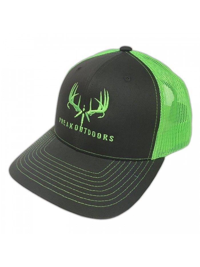 Brand Baseball Fit Snapback Hat - Charcoal Neon Green - C1186I2TN6L ... 40c3c62b35e1