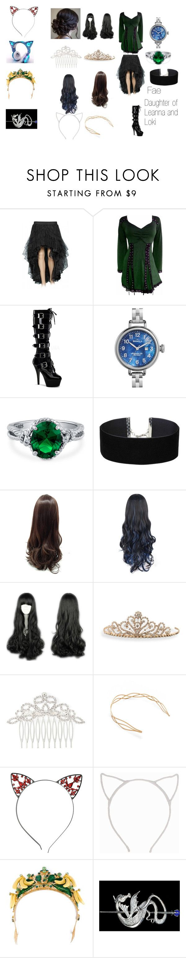 """""""Fae"""" by leanna-and-loki ❤ liked on Polyvore featuring Pleaser, Shinola, BERRICLE, Miss Selfridge, BillyTheTree, Vieste Rosa, Mrs. President & Co., Pieces and Dolce&Gabbana"""
