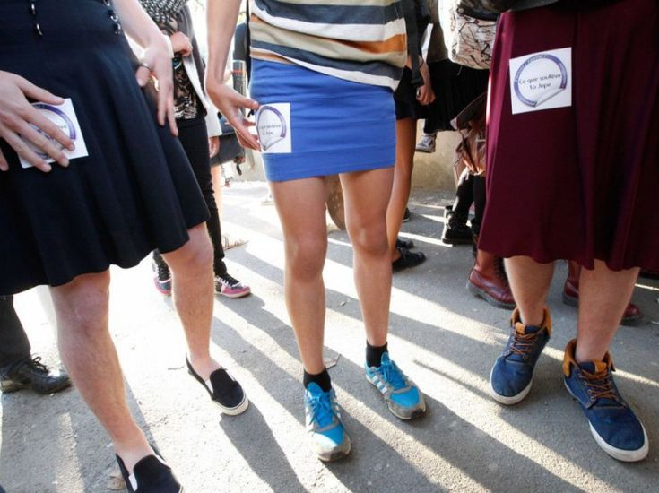 PHOTOS. Nantes : filles et garçons en jupe contre le sexisme