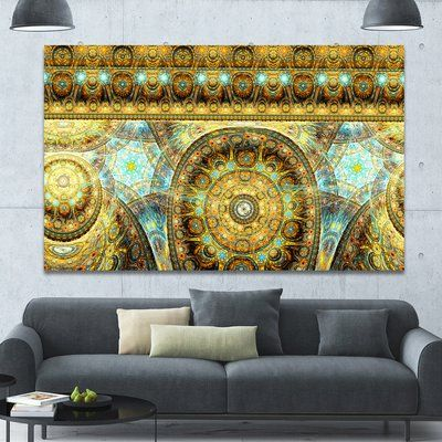"""DesignArt 'Brown Extraterrestrial Life Cells' Graphic Art on Wrapped Canvas Size: 40"""" H x 60"""" W x 1.5"""" D"""