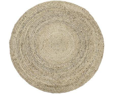 Handgefertigter Jute-Teppich Shanta, Hellbraun