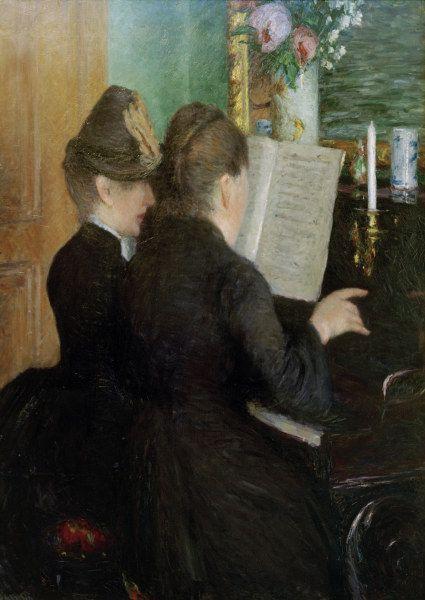 Gustave Caillebotte-Die Klavierstunde