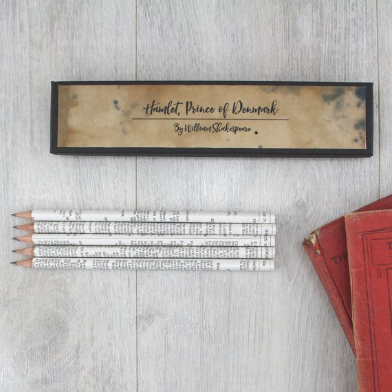 Shakespeare Pencil Set- William Shakespeare stationery - Shakespare Gifts - Shakespeare quote pencils - Gifts for teachers -Romeo and Juliet