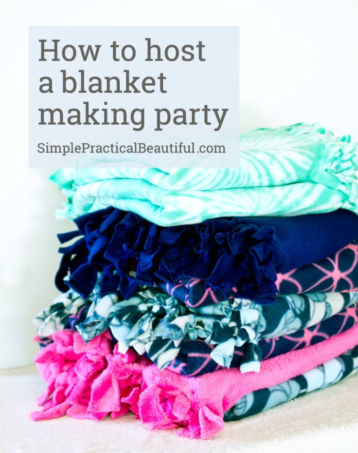 Host a service party to make blankets for Project Linus