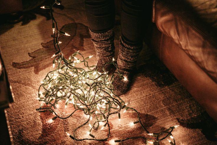 Untangling Christmas Lights - so festive!