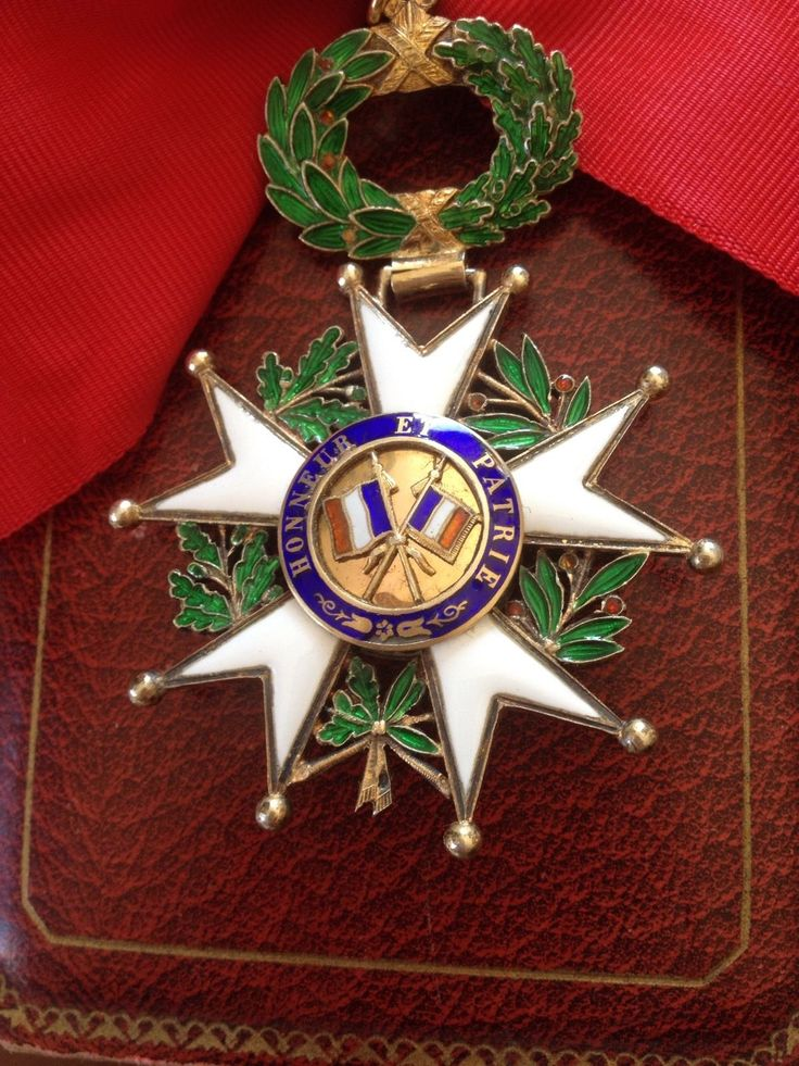 Légion D'Honneur Commandeur EN OR ET Écrin Dorée Guerre 1914 18 Colonel Four HE | eBay