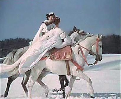 Tři oříšky pro Popelku - the wedding dress in action...
